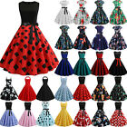 Womens 50S 60S Rockabilly Vintage Ladies Swing Pinup Retro Housewife Party Dress $13.29 USD on eBay