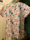 SCRUB TOP SIZES: M L XL FLAMINGO BEACH PARTY! NWT NURSE MEDICAL CNA WORK UNIFORM