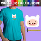 Adventure Time Finn the Human Scarlet Sword Hero ‎Unisex Mens Tee Crew T-Shirt