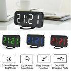 Dual USB Digital LED Clock Snooze Timer Mirror Automatic Dimming Alarm Clock  !