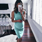 Women's Maternity Maxi Dress Bodycon Pregnant Pregnancy Casual Slit Plus Size