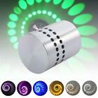 Spiral LED Wall Sconce Hall Porch Walkway bedroom Lights Decor Fixture Lamps JL