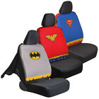 Sideless Car Seat Covers DC Superheroes Front Set Detachable Cape Auto Truck SUV $29.0 USD on eBay
