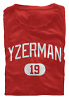 Steve Yzerman T-Shirt Detroit Red Wings NHL HOF Regular/Soft Jersey #19 (S-3XL) $15.95 USD on eBay