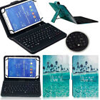 """For 9.7"""" 10"""" 10.1"""" inch Tablet Leather Stand Folio Flip Case Cover w/ Keyboard"""