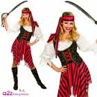 Ladies Pirate Fancy Dress Costume High Seas Caribbean Wench Women Sizes UK 6-28