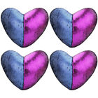 1/2/4pcs Magic Mermaid Sequin Throw Pillow Case Heart Sofa Waist Cushion Covers image