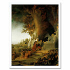 Rembrandt Christ And St Mary Magdalen At The Tomb Art Print Framed 12x16