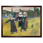 Paul Gauguin Breton Girls Dancing Pont Aven Art Print Framed 12x16