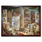 Panini Ancient Rome Monuments Allegory Painting Art Print Framed 12x16