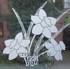 """FROSTED GLASS DAFFODIL VINYL STICKER. DECAL FOR PATIO DOOR, WINDOWS, SHOWERS 9"""""""