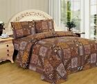 Twin Full Queen King Bed Brown Tan Jungle Safari Patchwork Animal 4 pc Sheet Set