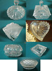 CRYSTAL TRINKET COVERED BOX MUSTARD BOWL W/ SPOON CANDY DISH SHANNON PICK 1