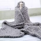 Large Home Decor Warm Sofa Chunky Knit Yarn Blanket Thick Bulky Knitted Throw US image