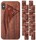 Wood NFL Football Apple iPhone XS Case / NFL XS Max Case / NFL iPhone XR Cover $39.95 USD on eBay