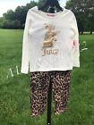 NWT: JUICY COUTURE 2pc. Leopard skinny jeans and Ivory Top Set  RARE