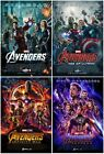 Marvel Avengers Age of Ultron Infinity War Endgame Movie Poster Set 11x17 13x19