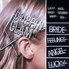 Women Girls Hair Clips Barrette Letter Word Rhinestone Crystal Hair Accessories