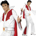 White Elvis Costume Fancy Dress 1950s 1960s King Rock Music Icon