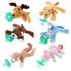 Great WubbaNub Infant Babys Soothies Dummy Pacifiers with Cuddly Plush Animals