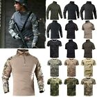 Military Tactical Combat T Shirt Army Quick Dry Hiking Moisture Camo Tee Shirts image