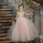 Toddler Flower Girl Princess Dress Kids Baby Party Wedding Lace Tulle Sundress