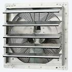 Shutter Exhaust Fan Wall-Mounted Variable Speed For Garage Cool Air Automatic