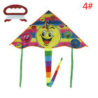 1Set 80*45cm Smiling face kite outdoor sports flying kites with 50m handle RKCA