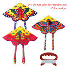 1Set 90*50cm butterfly printed long tail kite outdoor kite toy with handle RKCA
