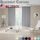 Window Curtain 3 Layers Blackout Drapes Strong Color Living Room Bedroom Home