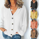 Sunmmer Women's Casual Buttoned Solid Long Sleeve Blouses h8