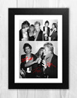 Keith Richards Tina Turner & David Bowie A4 signed poster Choice of frame