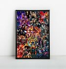 Marvel MCU Movie Collage Poster Avengers Endgame Iron Man Thor Hulk 11x17 13x19