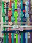 Swatch Standard Ladies 25mm Silicone Band Double Wrap Works In Good Condition