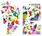 12X 3D Vivid Decal Colourful Butterflies Wall Stickers Home Bedroom Decor Girls
