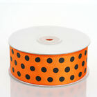 "1.5"" x 25 yds Polka Dot Grosgrain RIBBON Wedding FAVOR Party Sewing Craft Supply"