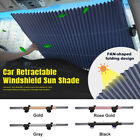 Car Sunshade Retractable Adjustable Windshield Block Sun Shade Cover Front/Rear