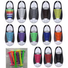 16pc Silicone Shoelaces Elastic Shoe Laces No Tie Shoelace for Adult Rubber Lace