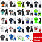 New Mens Cycling Jersey Set Cool Short Sleeve Biking Shirt 3D Padded Bib Shorts