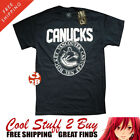AUTHENTIC NHL Men's NWT 100% Cotton Vancouver  Canucks LARGE T Shirt Dk Navy $14.99 USD on eBay