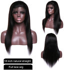Glueless Full Lace Front Wigs Wavy Malaysian Virgin Human Hair Wig Pre Plucked #