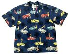 KYS Hawaiian Mens Shirt Blue Cars Girls Bikinis All Over Print