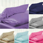 Solid Queen/Standard Silk Satin Pillow Case Bedding Pillowcase Smooth Home #CU image