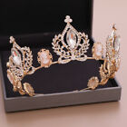 9cm High Cameo Crystal Round Crown Tiara Wedding Party Pageant Prom 2 Colors
