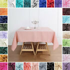 SQUARE 54 x 54 inch POLYESTER TABLECLOTH Wedding Linens Decorations Wholesale