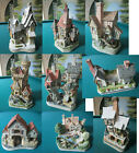 DAVID COTTAGES CASTLES SCULPTURE FIGURINES NIB