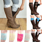 Внешний вид - Women Lace Boot Cuffs Flower Socks Leg Elastic Warmer Socks Trim Toppers Socks