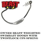 Owner Beast Weighted Swimbait Hooks 5130w - Choose Size / Weight