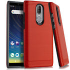 For Coolpad Legacy Phone Case Armor Hybrid Shockproof + Tempered Glass Protector
