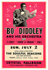 Bo Diddley concert poster print